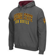 Men's Stadium Athletic Charcoal Arizona State Sun Devils Double Arches Pullover Hoodie