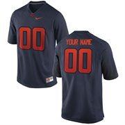 Nike Mens Syracuse Orange Custom Replica Football Jersey - Navy