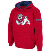 Youth Stadium Athletic Red Fresno State Bulldogs Big Logo Pullover Hoodie