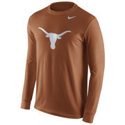Men's Nike Burnt Orange Texas Longhorns Cotton Logo Long Sleeve T-Shirt