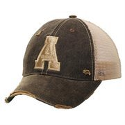 Appalachian State Mountaineers Emblem Adjustable Hat - Black