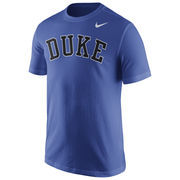 Men's Nike Royal Duke Blue Devils Wordmark T-Shirt