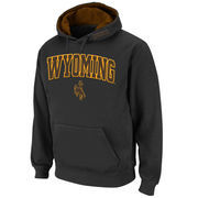 Men's Stadium Athletic Charcoal Wyoming Cowboys Arch & Logo Pullover Hoodie