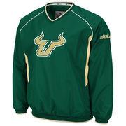 Mens South Florida Bulls Green Hardball V-Neck Pullover Jacket
