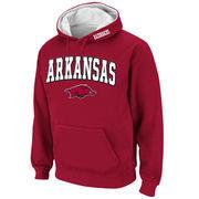 Men's Stadium Athletic Cardinal Arkansas Razorbacks Arch & Logo Pullover Hoodie
