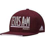 Men's adidas Maroon Texas A&M Aggies climalite Sideline Snapback Adjustable Hat