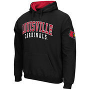 Men's Stadium Athletic Black Louisville Cardinals Double Arches Pullover Hoodie