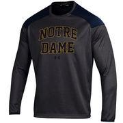 Men's Under Armour Charcoal Notre Dame Fighting Irish Team Logo Ultimate Tech Performance Pullover Sweatshirt