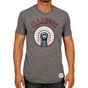 Men's Original Retro Brand Heather Gray Illinois Fighting Illini Vintage Tri-Blend T-Shirt