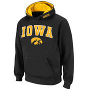 Men's Stadium Athletic Black Iowa Hawkeyes Arch & Logo Pullover Hoodie