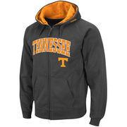 Men's Stadium Athletic Charcoal Tennessee Volunteers Arch & Logo Full Zip Hoodie