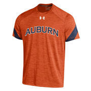 Men's Under Armour Orange Auburn Tigers 2016 Sideline Microstripe Performance T-Shirt