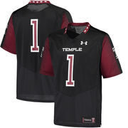 Men's Under Armour Black Temple Owls 2016 Replica Football Jersey