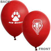 New Mexico Lobos 10-Pack 11'' Latex Party Balloons - Cherry
