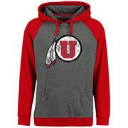 Men's Ash/Red Utah Utes Classic Primary Pullover Hoodie