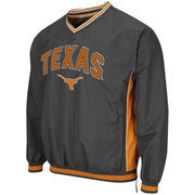 Men's Colosseum Charcoal Texas Longhorns Fair Catch Pullover Jacket