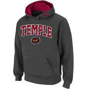 Men's Stadium Athletic Charcoal Temple Owls Arch & Logo Pullover Hoodie