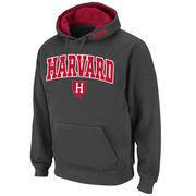 Men's Stadium Athletic Charcoal Harvard Crimson Arch & Logo Pullover Hoodie
