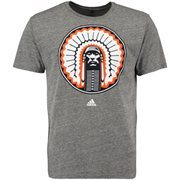 Men's adidas Gray Illinois Fighting Illini Big Retro Tri-Blend T-Shirt