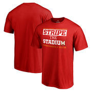 Men's Red Maryland Terrapins 2016 Homecoming Stripe the Stadium T-Shirt