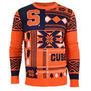 Men's Orange Syracuse Orange Patches Ugly Sweater
