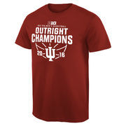 Men's Crimson Indiana Hoosiers 2016 Big 10 Men's Basketball Conference Champions T-Shirt