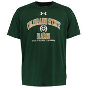 Men's Colorado State Rams Under Armour Green School Mascot Tech T-Shirt