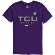 Youth Nike Purple TCU Horned Frogs Sideline Core Football T-Shirt