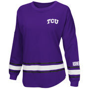 Women's Colosseum Purple TCU Horned Frogs All Around Oversized Long Sleeve T-Shirt