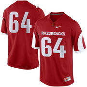 Arkansas Razorbacks Nike #64 Replica Game Football Jersey - Cardinal
