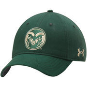 Men's Under Armour Green Colorado State Rams Sideline Garment Washed Twill Performance Adjustable Hat