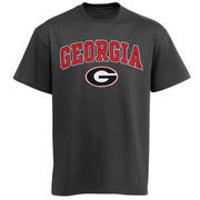 Men's New Agenda Charcoal Georgia Bulldogs Arch Over Logo T-Shirt