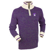 Men's Bruzer Purple Northwestern Wildcats Quarter-Zip Sweater