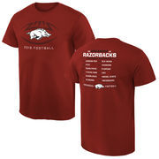 Men's Cardinal Arkansas Razorbacks 2016 Football Schedule T-Shirt