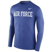 Men's Nike Royal Air Force Falcons Stadium Dri-FIT Touch Long Sleeve Top