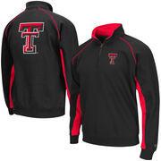 Men's Colosseum Black Texas Tech Red Raiders Crest Quarter Zip Pullover Sweatshirt