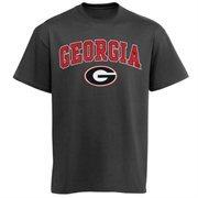 Mens Charcoal Georgia Bulldogs Arch Over Logo T-Shirt