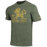 Men's Under Armour Green Notre Dame Fighting Irish 2016 Shamrock Series Logo Tri-Blend T-Shirt