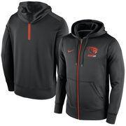 Men's Nike Black Oregon State Beavers Sideline KO Fleece Full Zip Therma-FIT Hoodie