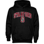 Men's New Agenda Black Stanford Cardinal Midsize Arch Over Logo Hoodie