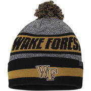 Men's Top of the World Charcoal Wake Forest Demon Deacons Cumulus Pom Knit Hat