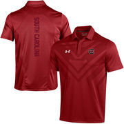 Men's Under Armour Garnet South Carolina Gamecocks Coaches Sideline Scout Polo