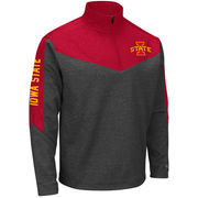 Men's Colosseum Charcoal/Cardinal Iowa State Cyclones Top Gun Quarter-Zip Pullover Jacket