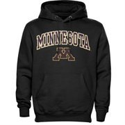 Mens Black Minnesota Golden Gophers Arch Over Logo Hoodie