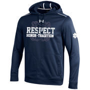 Men's Under Armour Navy Notre Dame Fighting Irish Respect Game Performance Hoodie