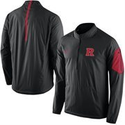 Men's Nike Black Rutgers Scarlet Knights 2015 Football Coaches Sideline Half-Zip Wind Jacket