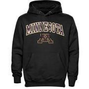 Men's New Agenda Black Minnesota Golden Gophers Midsize Arch Over Logo Hoodie