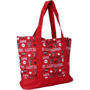 Texas Tech Red Raiders Women's Love Print Tote Bag