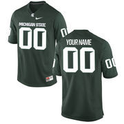 Men's Green Michigan State Spartans Nike Custom Game Jersey