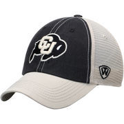 Men's Colorado Buffaloes Black/White Top of the World Offroad Trucker Adjustable Hat